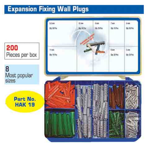 Torres Expansion Fixing Wall Plugs 200  Pieces