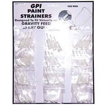 GPI Paint Strainer CARD OF 12 for Gravity Feed Spray Guns