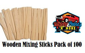 Wooden Paint Mixing Sticks 100 Pack