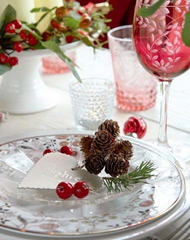table scape christmas