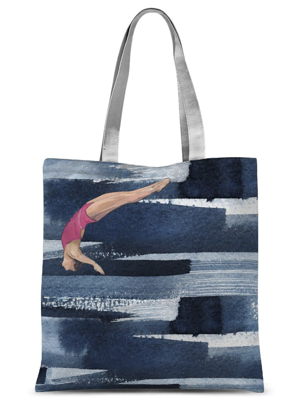 Dive Girl GLIDE Sublimation Tote Bag