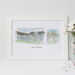 Wedding Venue Double Illustration