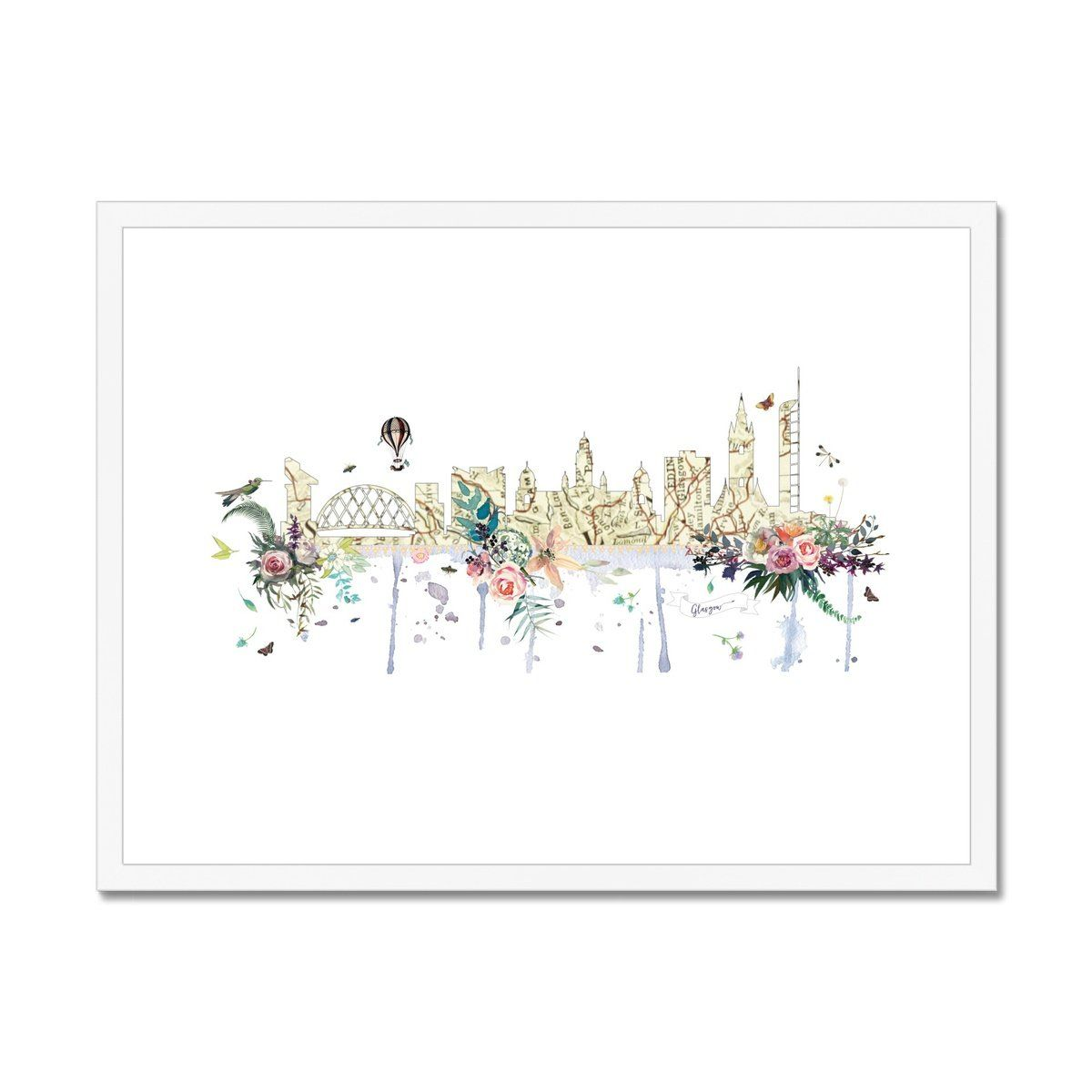Glasgow Framed & Mounted Print