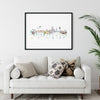Barcelona, Spain skyline, art print, unframed