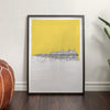 BRIGHTON PIER UNFRAMED ART PRINT, Yellow