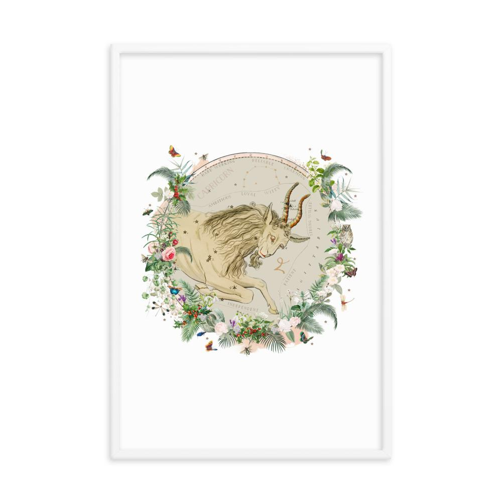 Capricorn FRAMED FINE ART PRINT