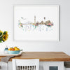Düsseldorf, Germany Skyline - art print, unframed