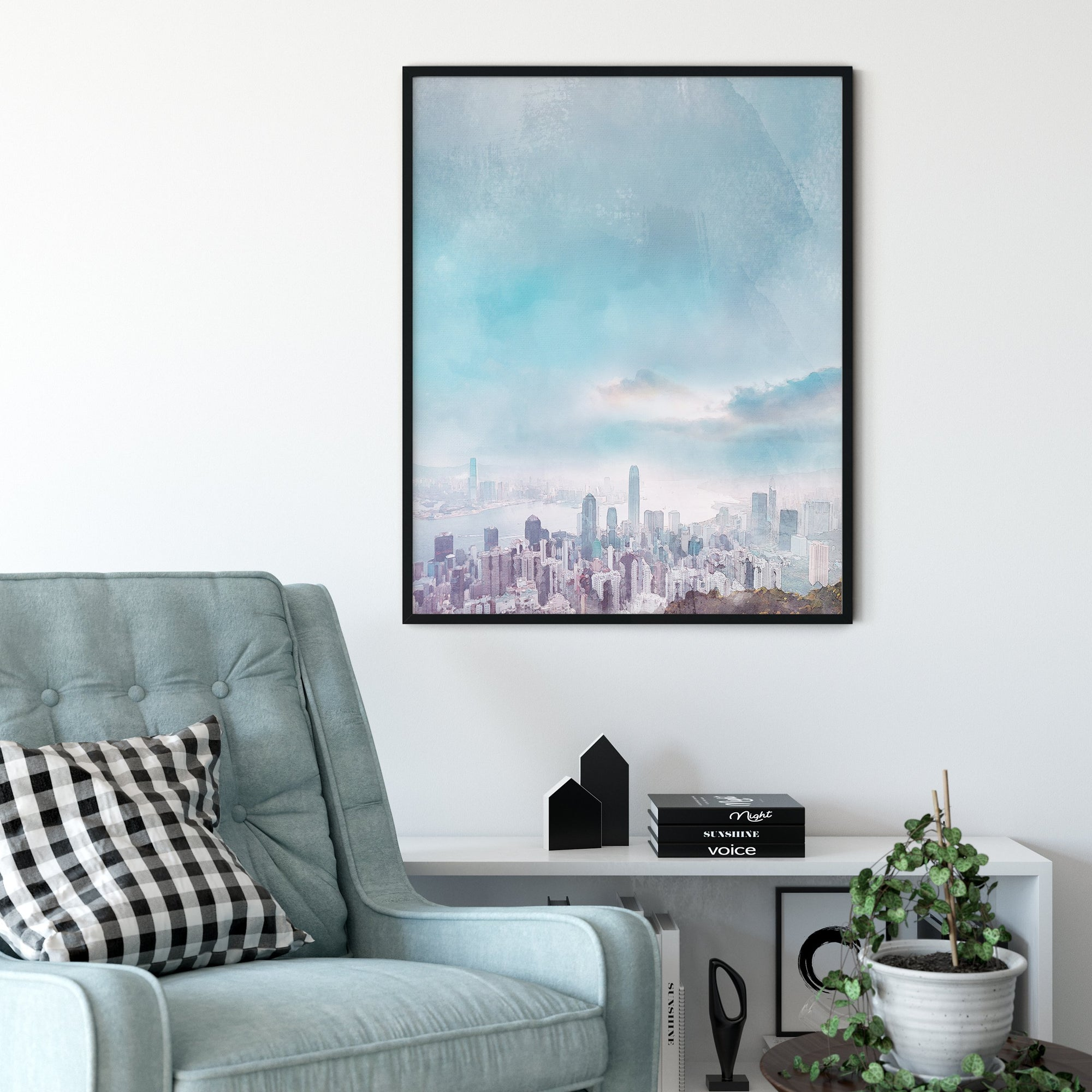 Hong Kong travel art print