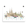 Hamburg, Germany skyline - art print, unframed