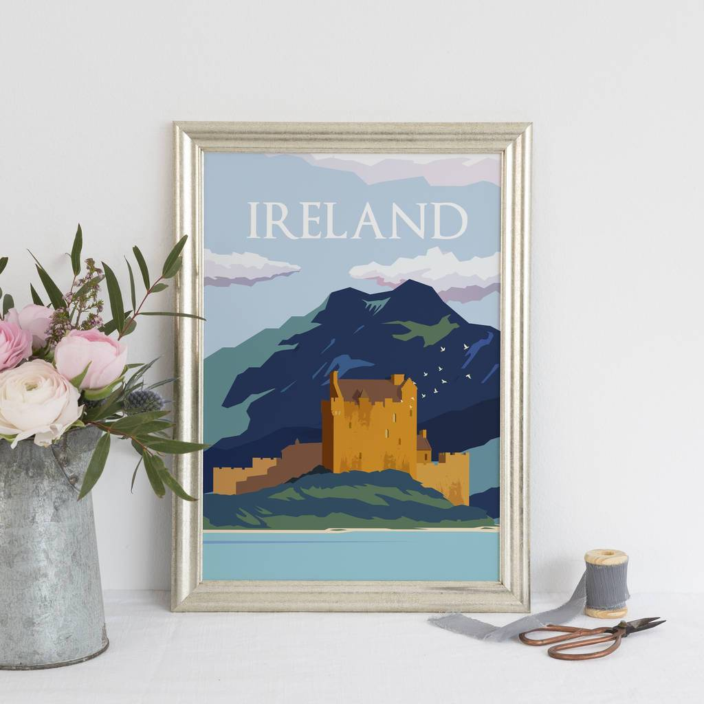 Ireland Art Print - Blue Colourway