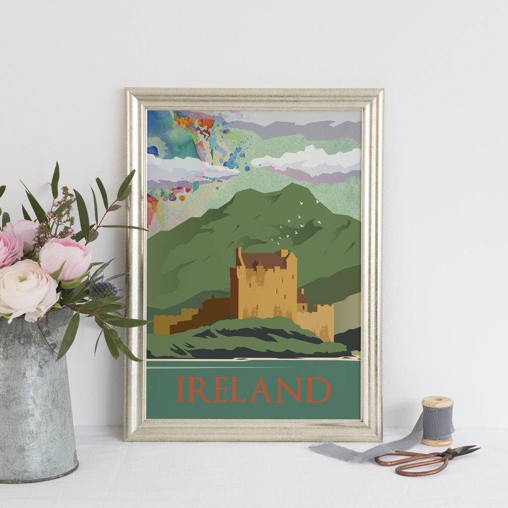 Ireland Art Print - Green Colourway