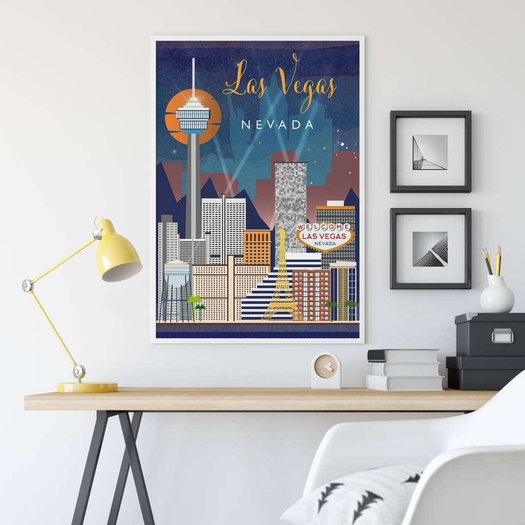 Las Vegas, Nevada fine art travel poster
