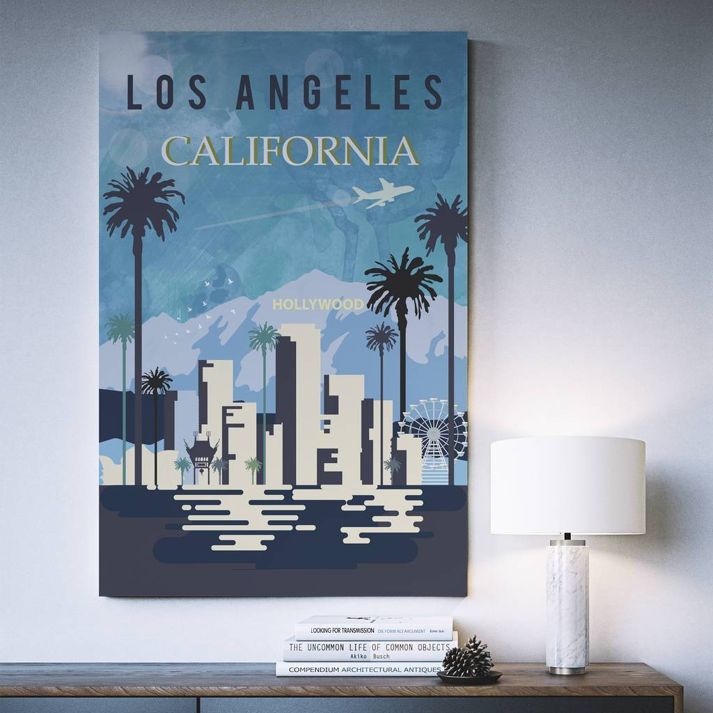 Los Angeles, California, fine art travel poster