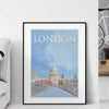 London, St Pauls in the City fine art travel poster