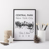 Central Park Personalised Art Print