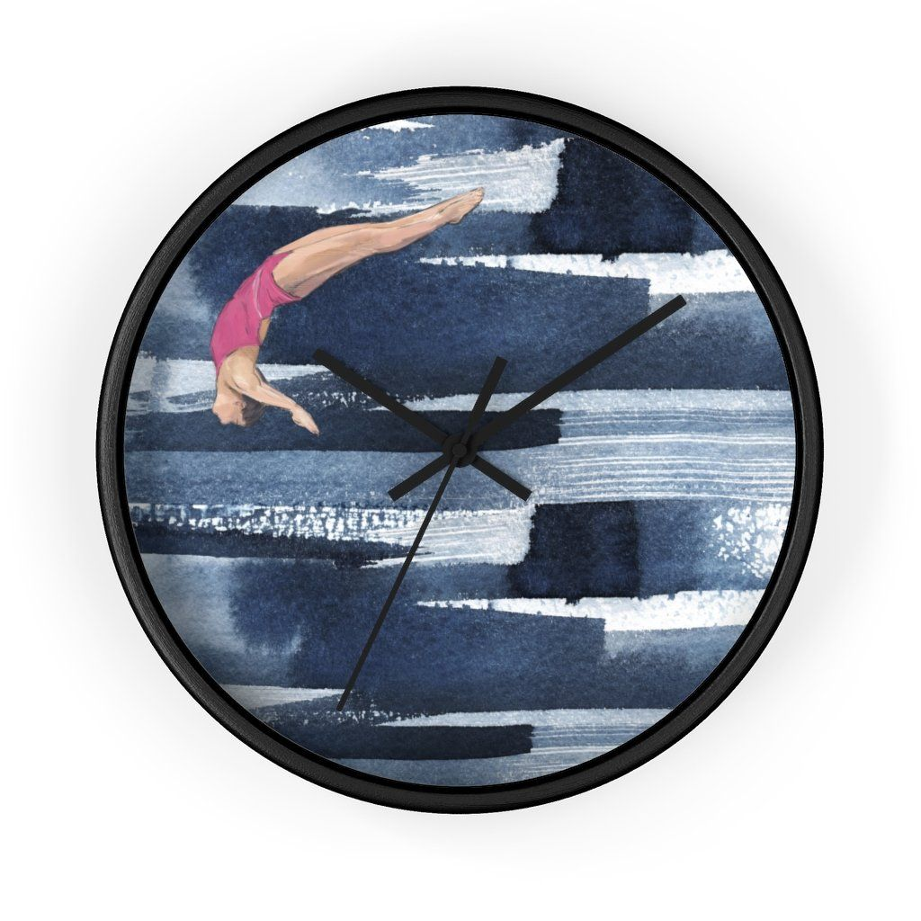 Dive girl wall clock 'Glide'