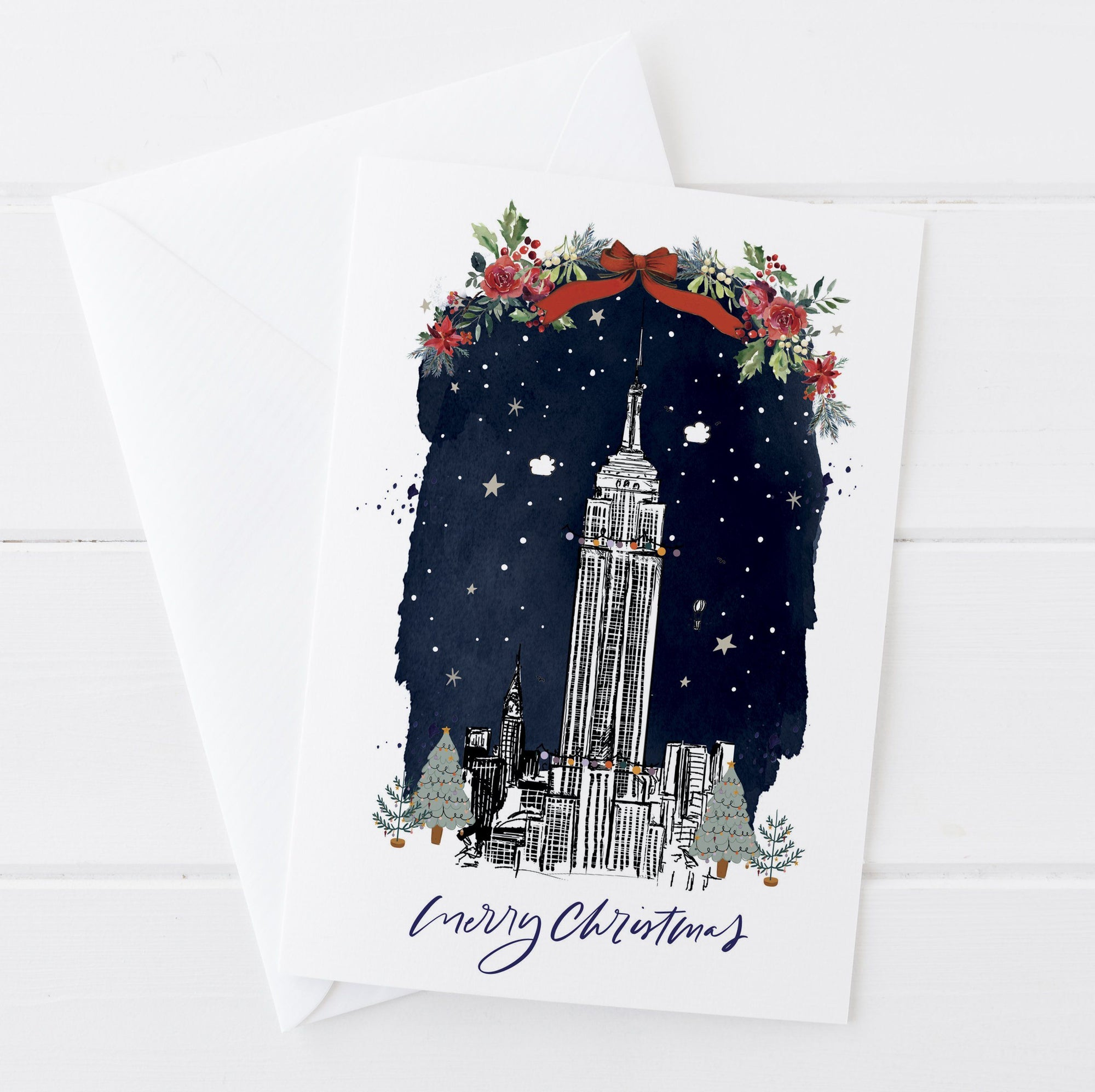 Empire State Building Christmas Card