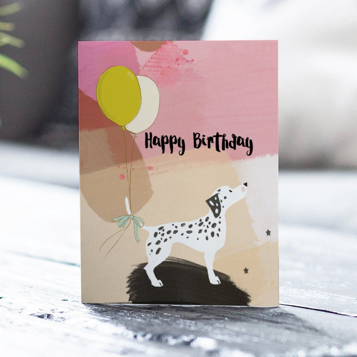 Happy Birthday Dog Greetings Card