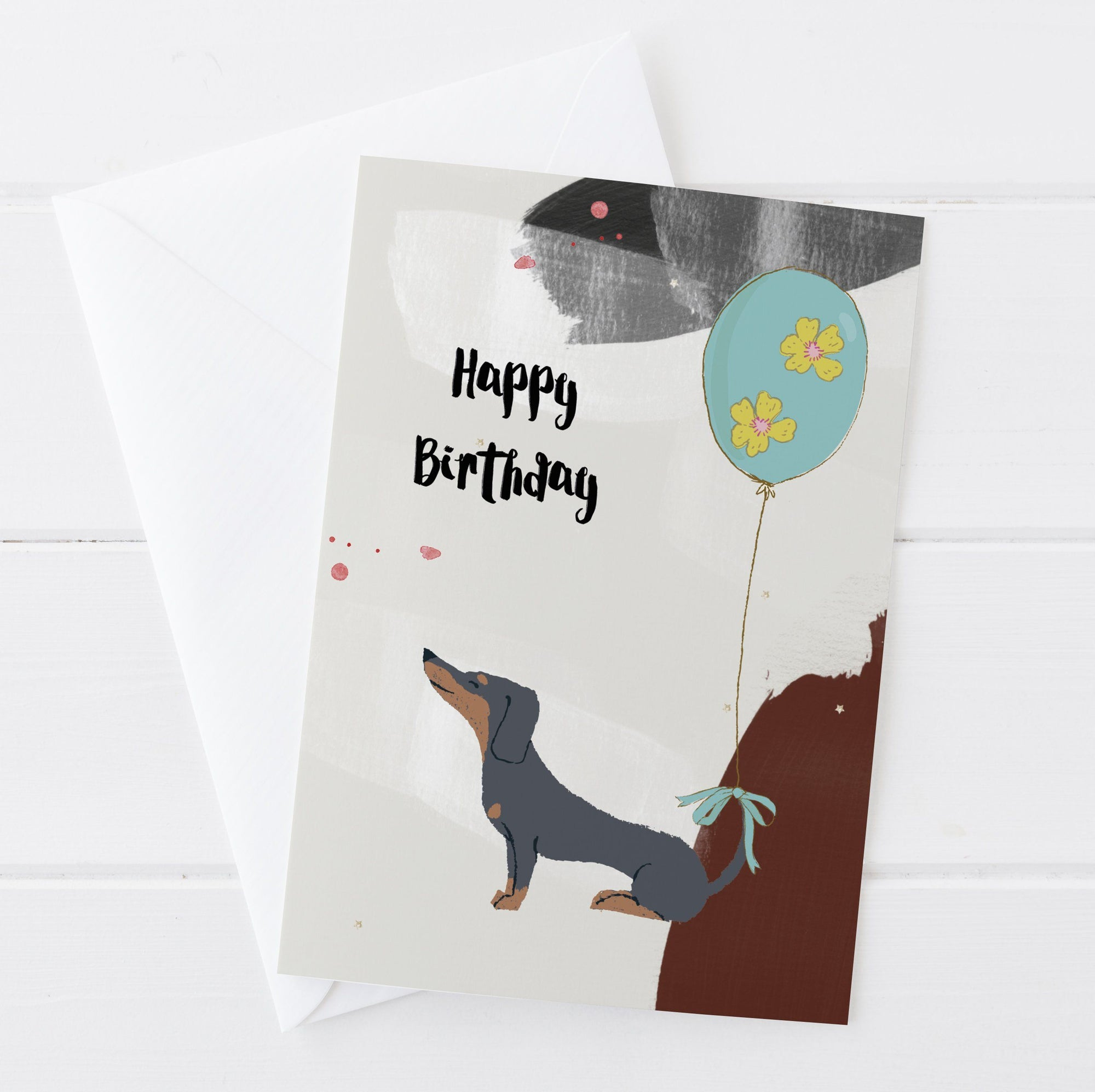 Happy Birthday Sausage Dog Greetings Card