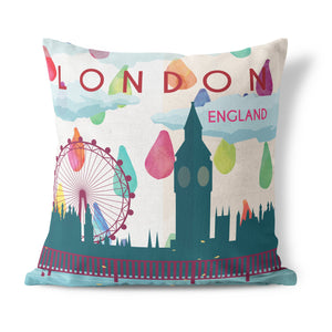 London, England Cushion