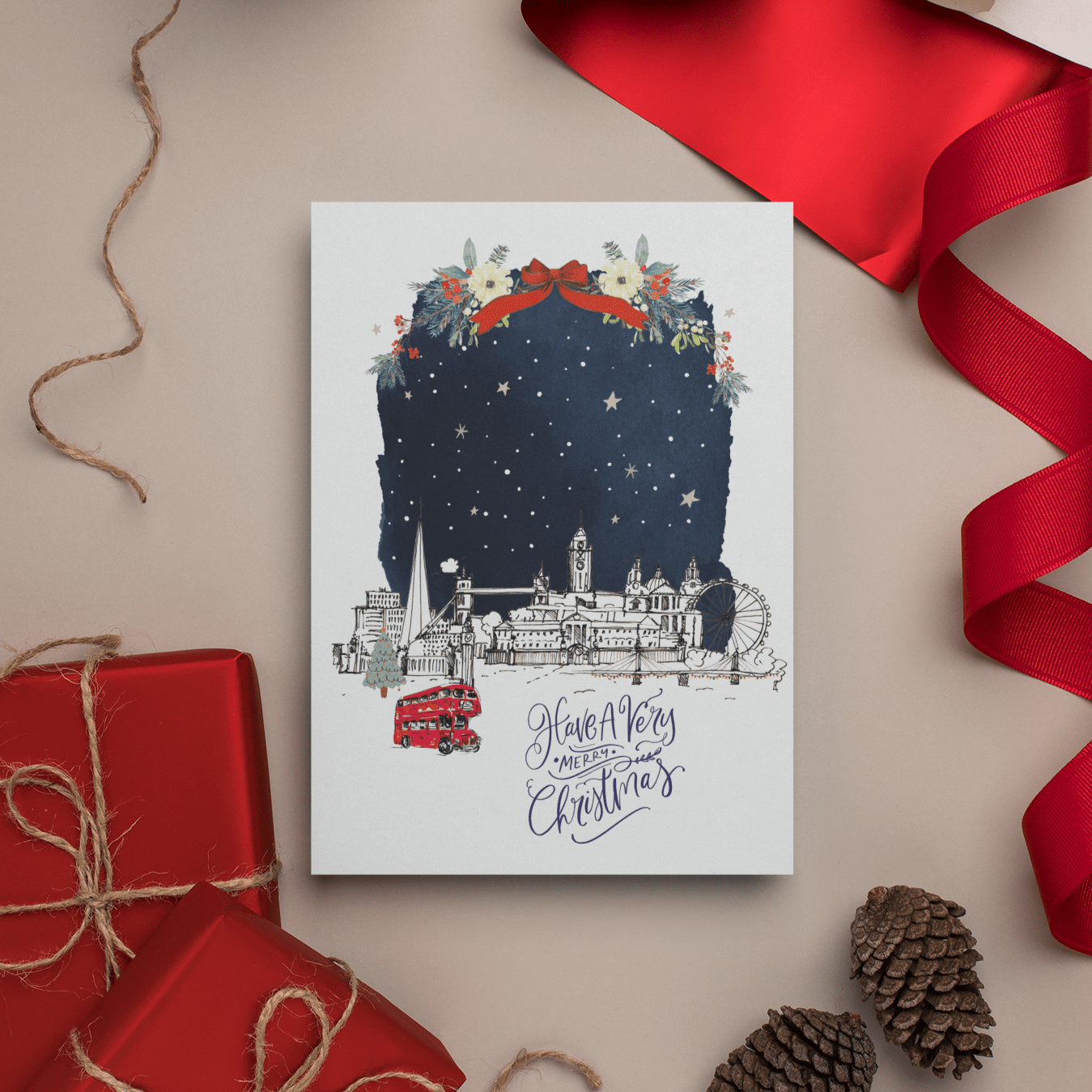 London Skyline Christmas Card