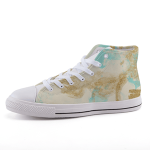Sparkle High-top canvas shoe