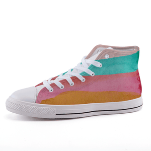 Stripes High-top canvas shoes