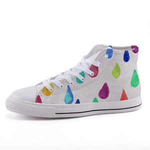 Rain Drop High-top canvas shoes