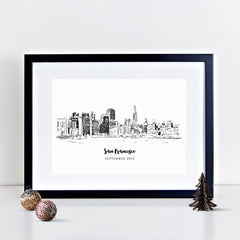 San Francisco Skyline Illustrated Art Print