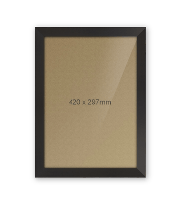 Black A3 Frame With Mount 2by2 Creative