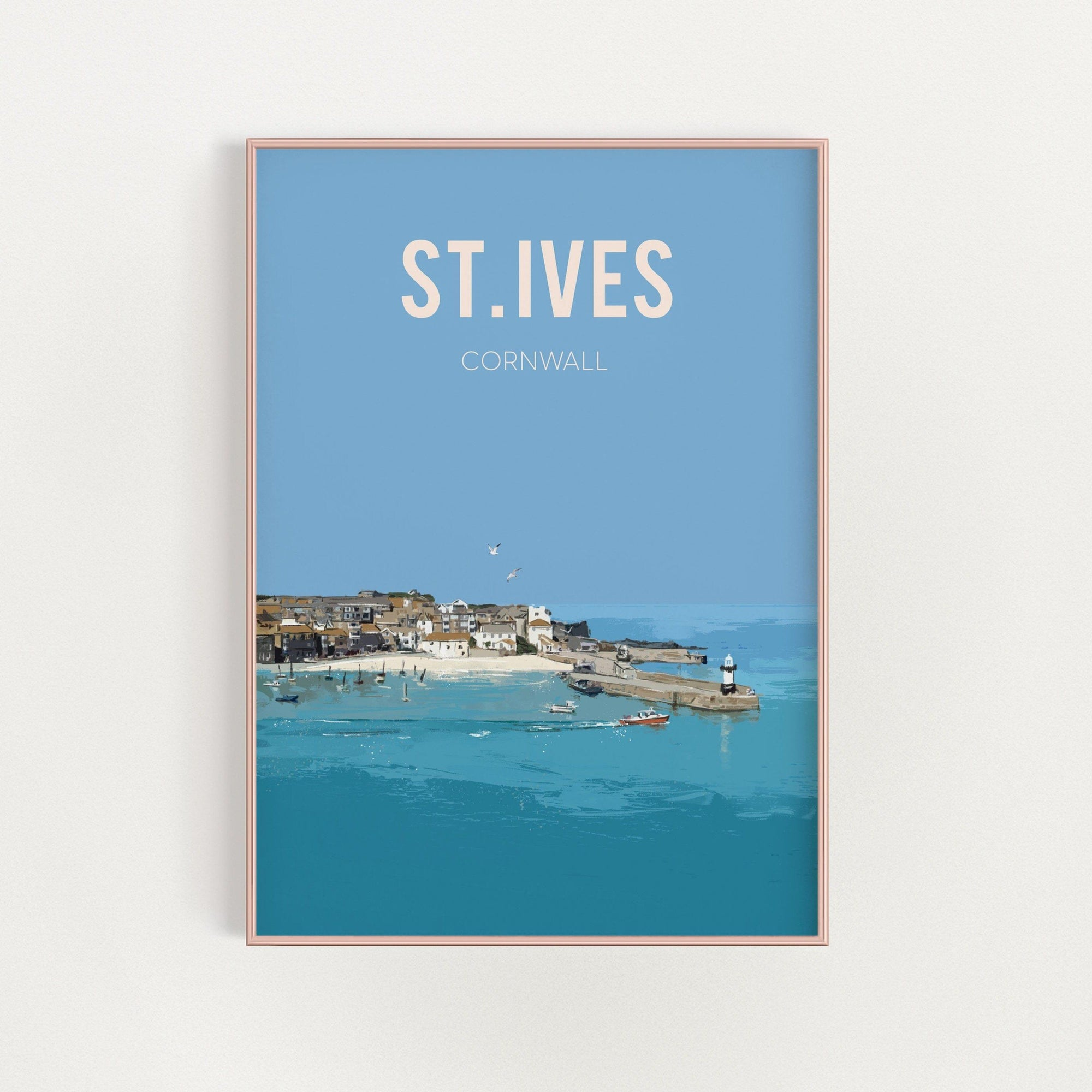 St. Ives, Cornwall travel art print - unframed