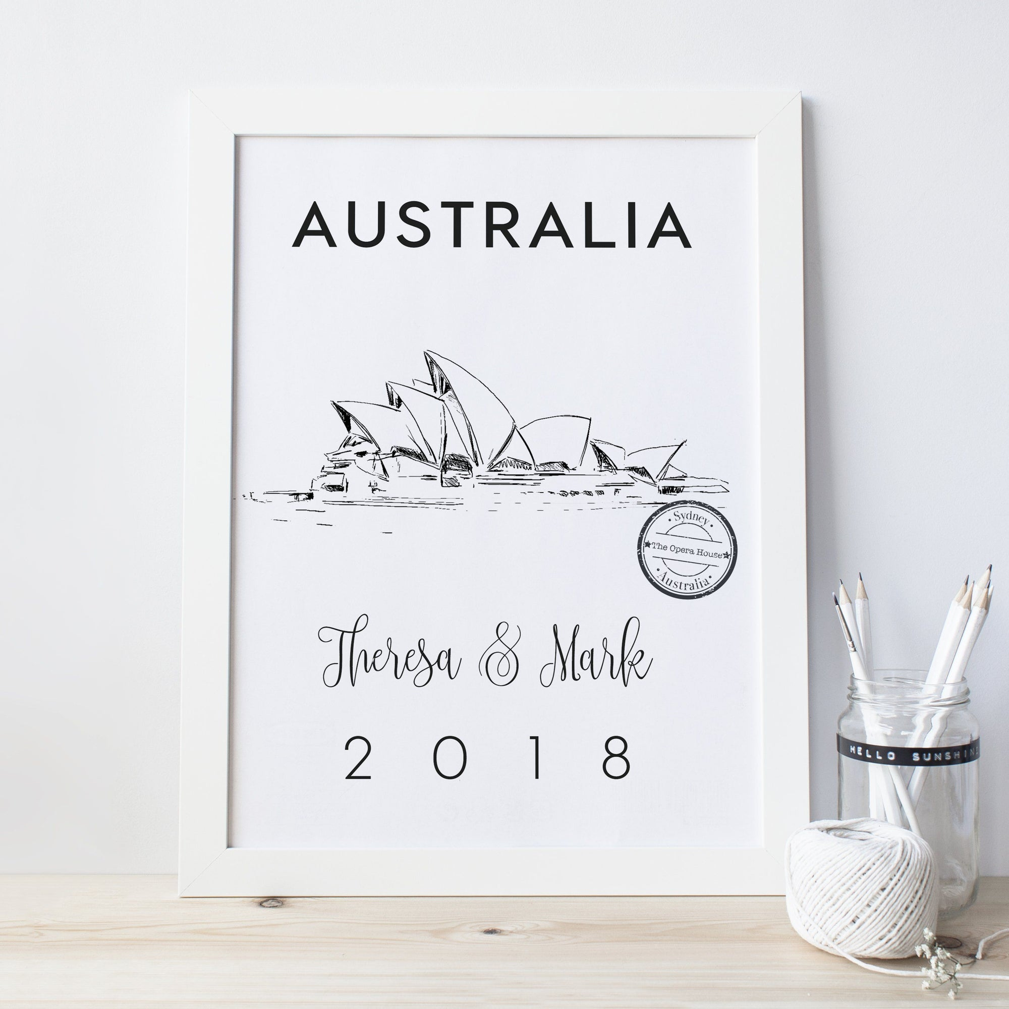 Sydney Opera House Personalised Art Print