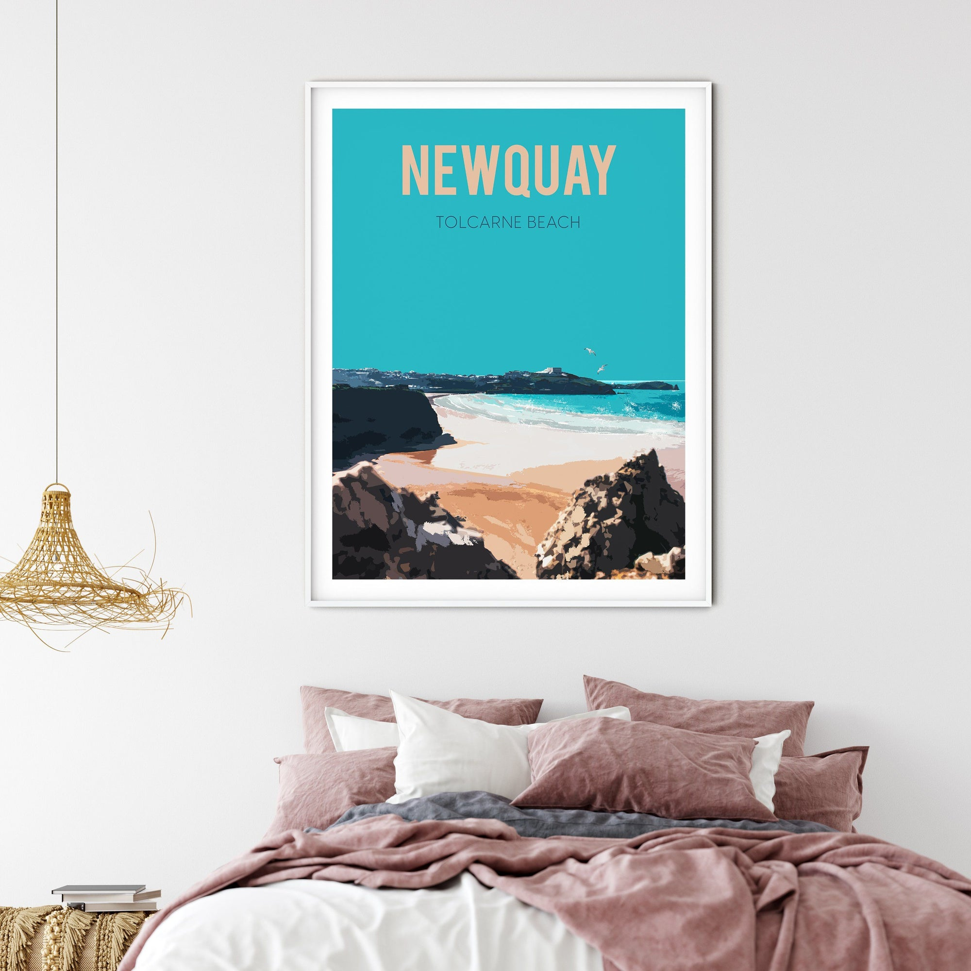 Newquay FINE ART PRINT - FRAMED