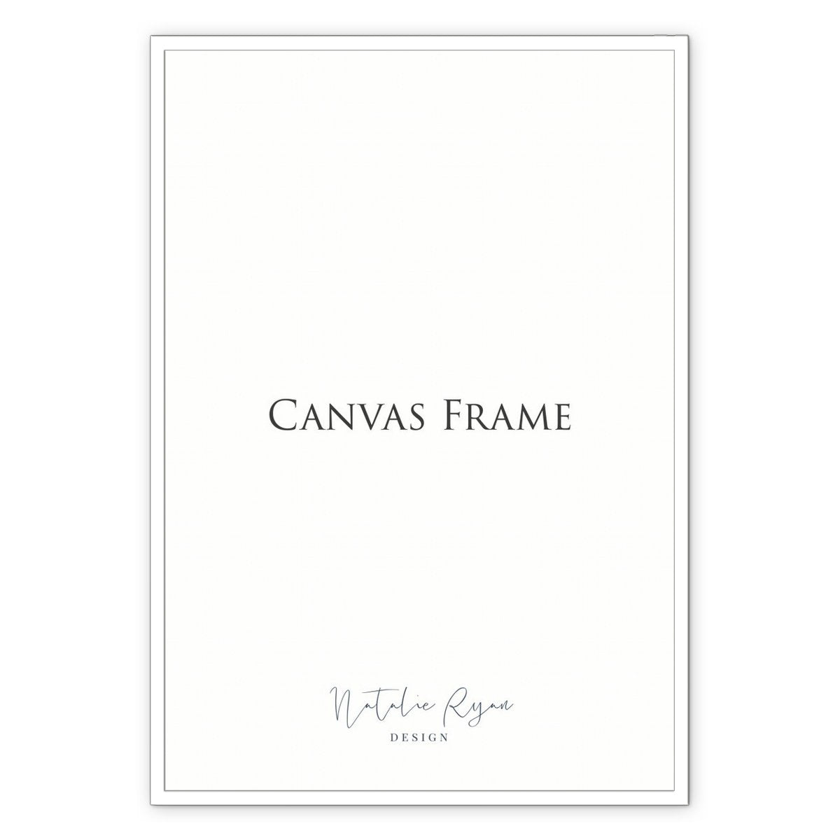 Framed Canvas Print, 8x10 in / 20x25 cm, White Frame