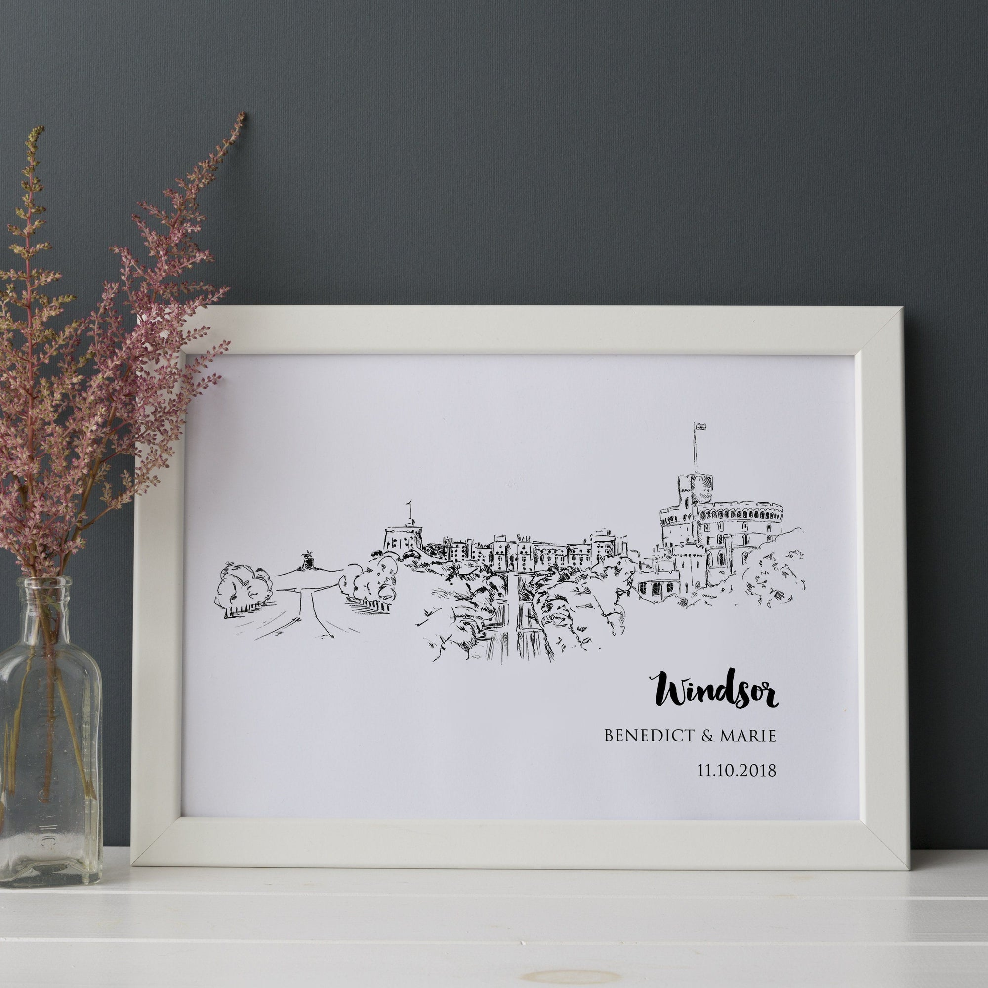 Windsor Castle Personalised Art Print