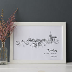 Windsor Castle Illustrated Art Print