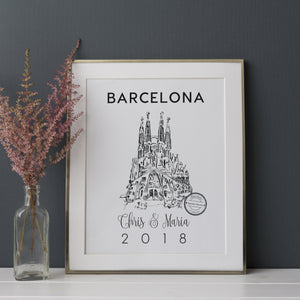Sagrada Familia Illustrated Art Print