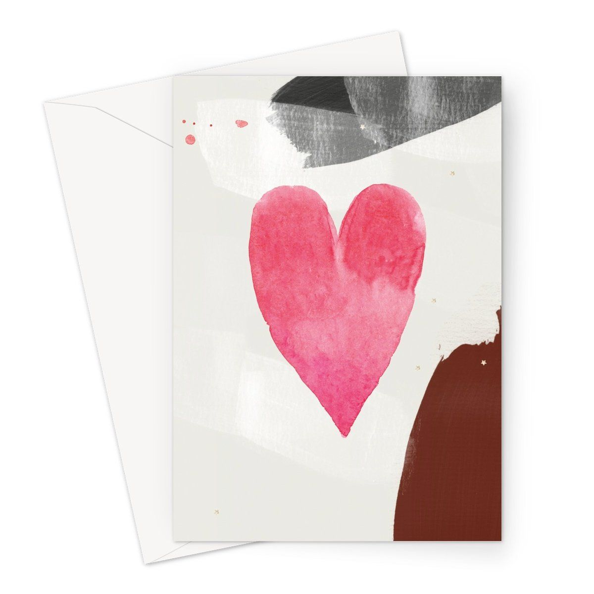 watercolour heart Greeting Card