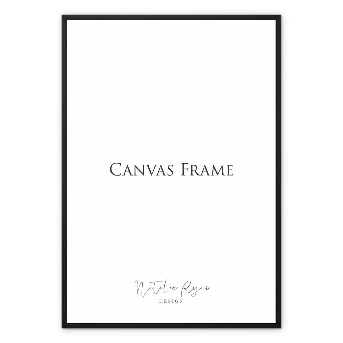 Framed Canvas Print, 8x10 in / 20x25 cm, Black Frame