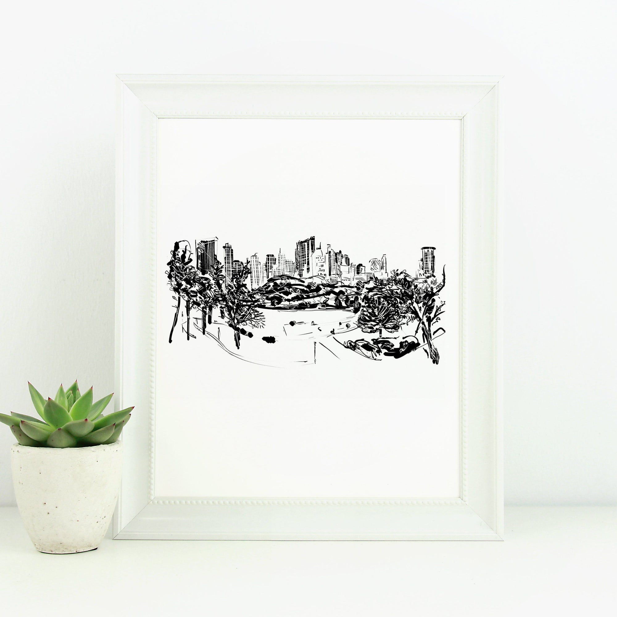 Central Park Monochrome Sketch