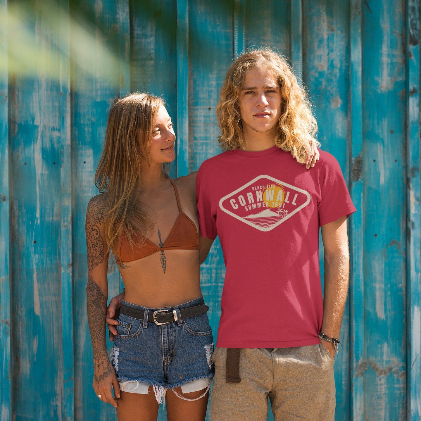 Beach Life Cornwall Short sleeve t-shirt