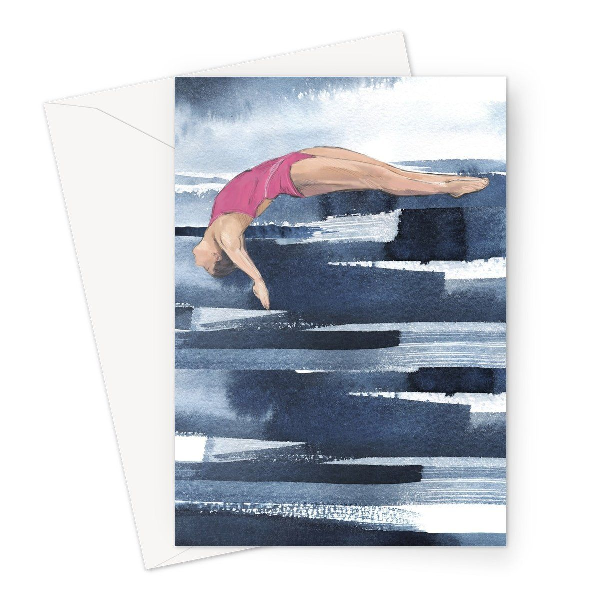 Dive Girl GLIDE Greeting Card