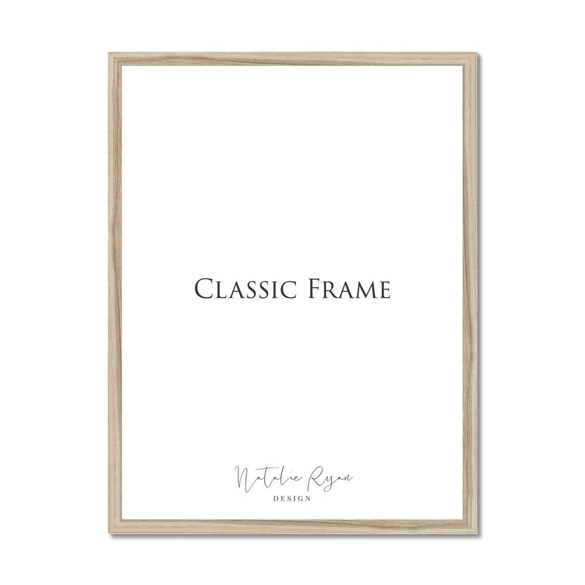 Classic picture frame, 8x10 in / 20x25 cm, Natural