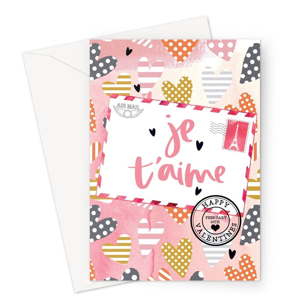 Valentine Je Taime Greeting Card