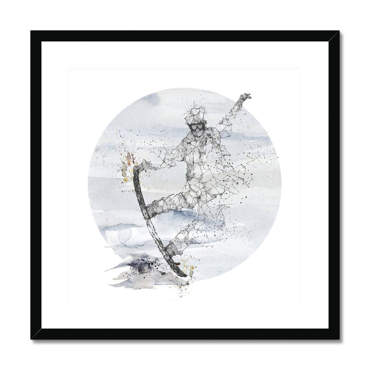 Snow boarder Framed & Mounted Print