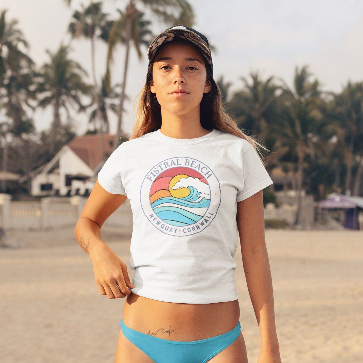 Fistral Beach Women's Crop Tee