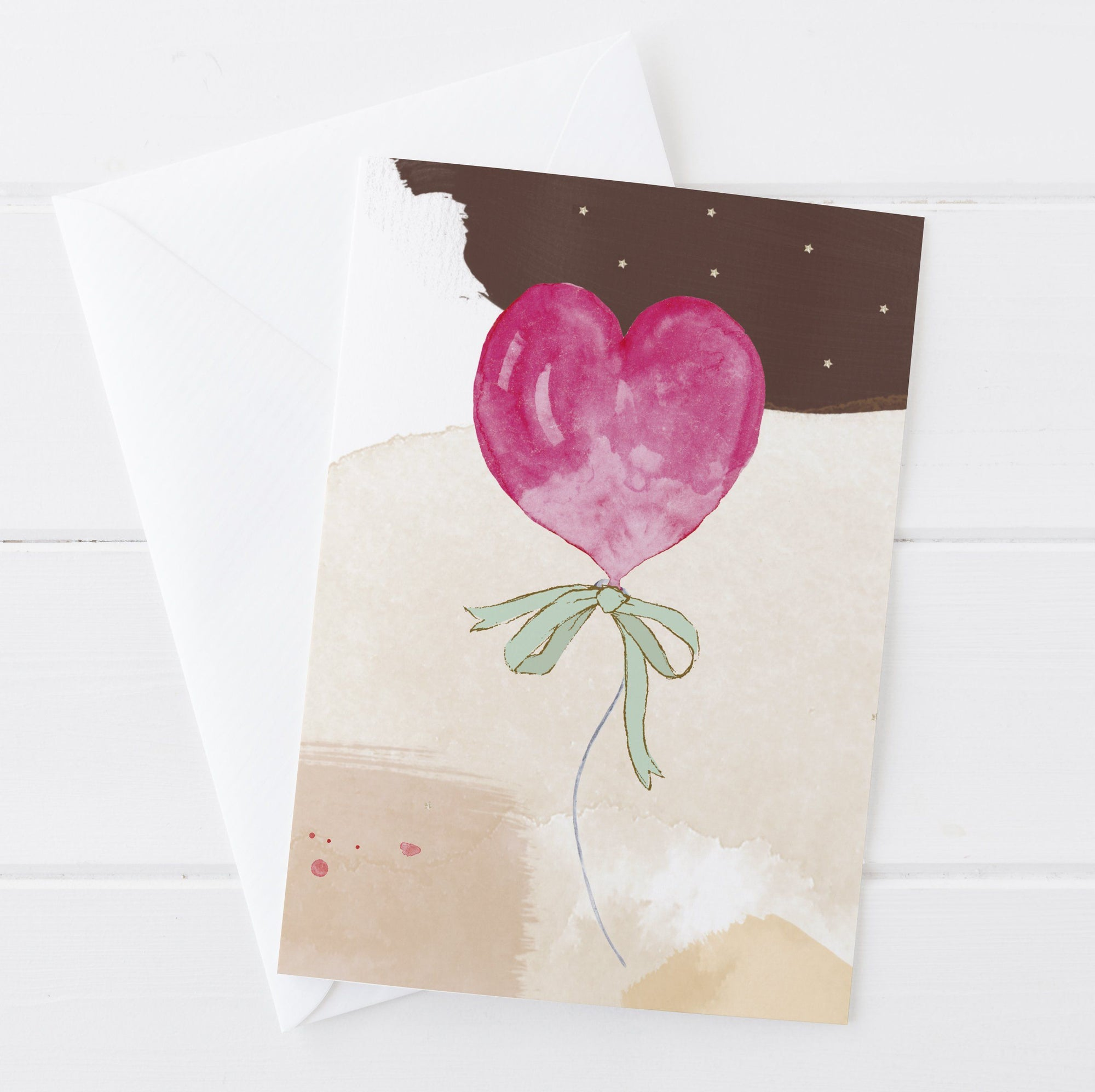 Balloon Heart Greetings Card