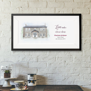 House Portrait With Quote