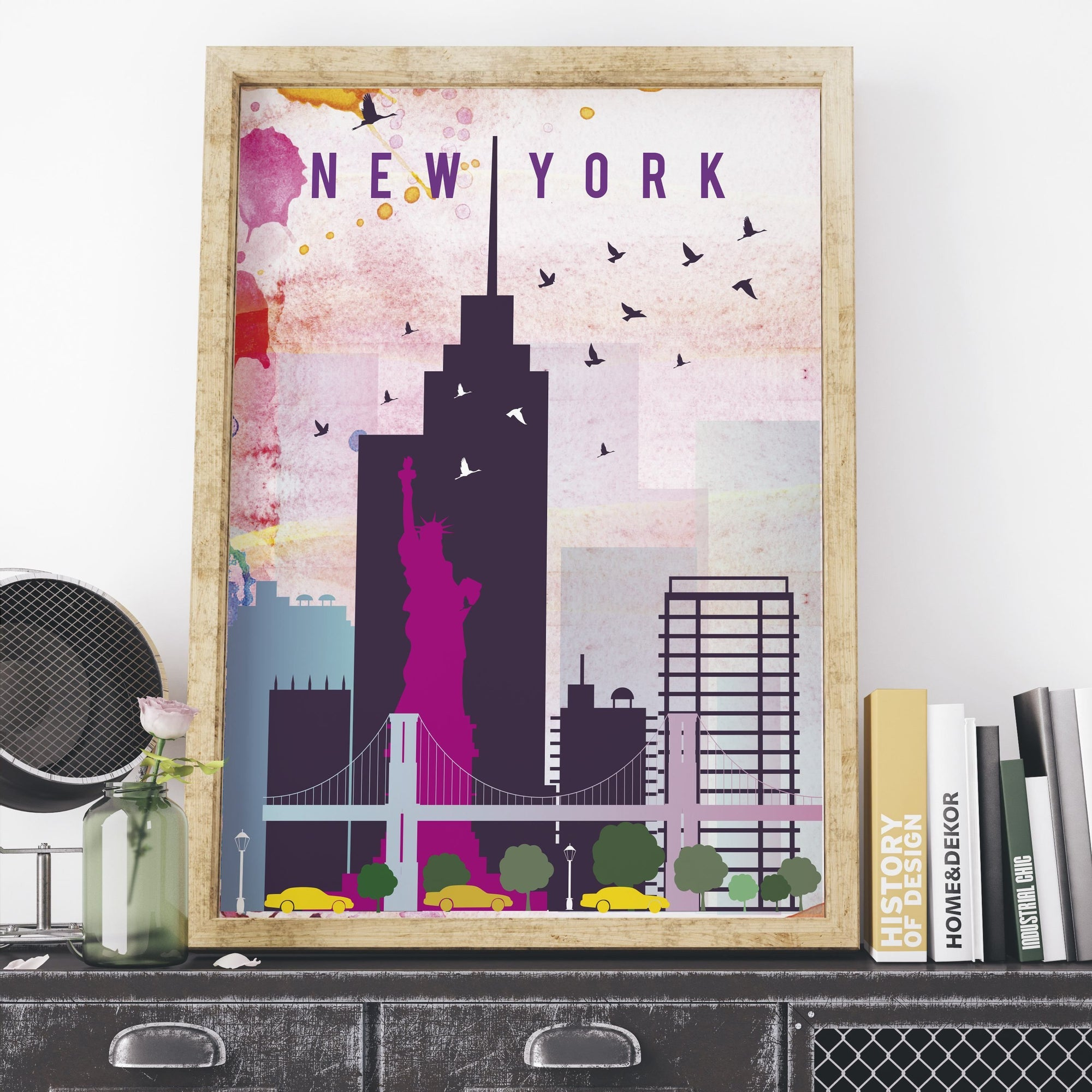 New York Cityscape fine art travel poster