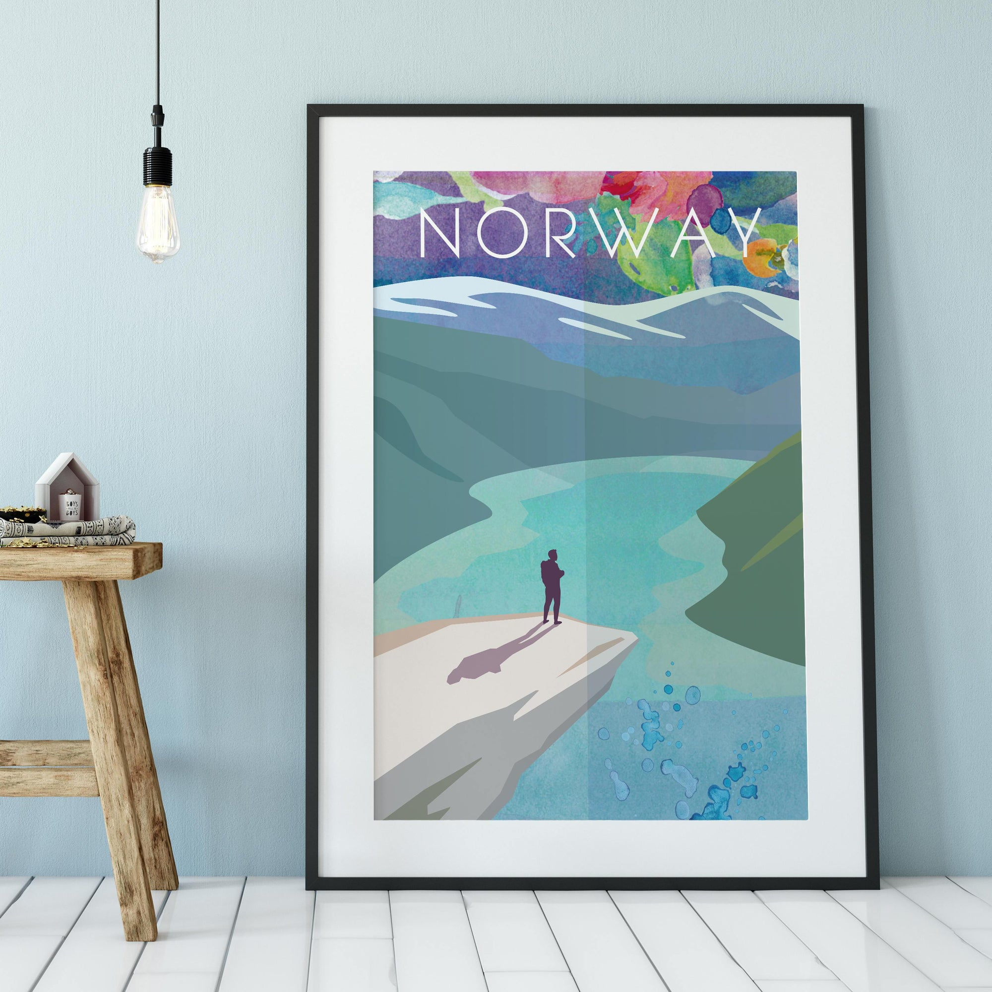 Norway Cityscape fine art travel poster